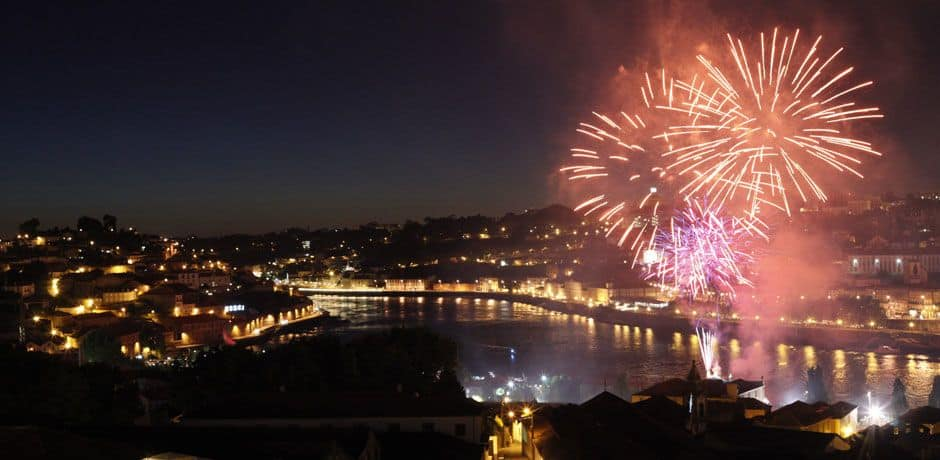 Fireworks over Porto celebrate the end of a splendid trip down the Douro. Photo courtesy of Miguel Ribeiro Fernandes/Alexandre Vaz.