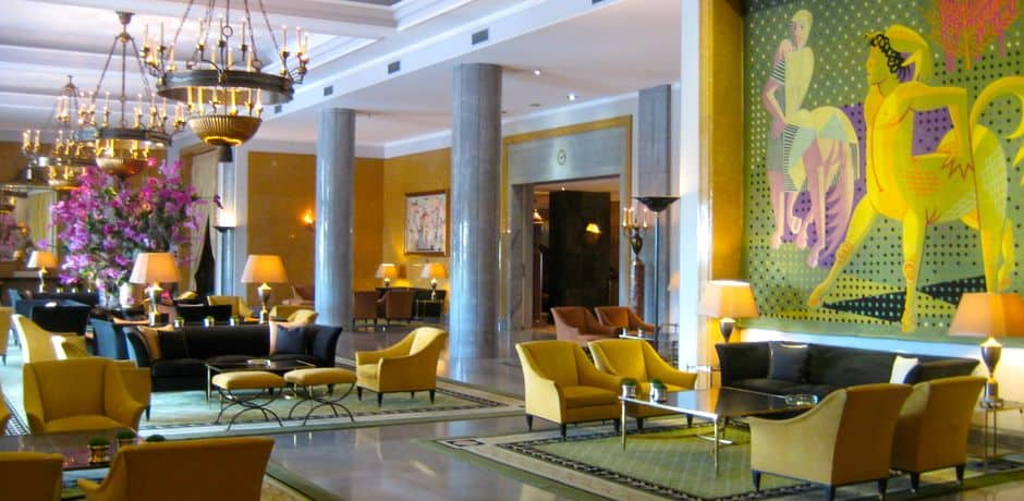Built in 1959 as a showplace for the country, the Hotel Ritz is today managed by Four Seasons. Its elegant period furnishings include superb tapestries by Jose de Almada Negreiros.