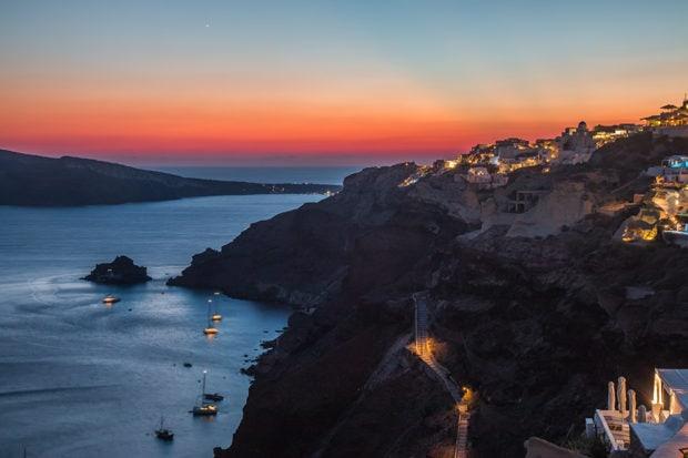 Sunset in Santorini, Greece. Courtesy Indagare