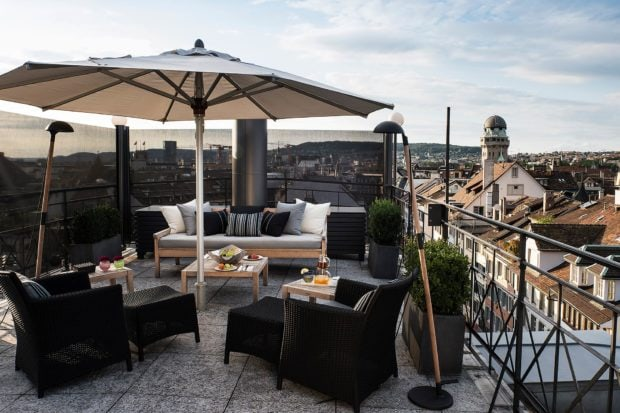 The Widder's rooftop terrace. Courtesy The Widder Hotel