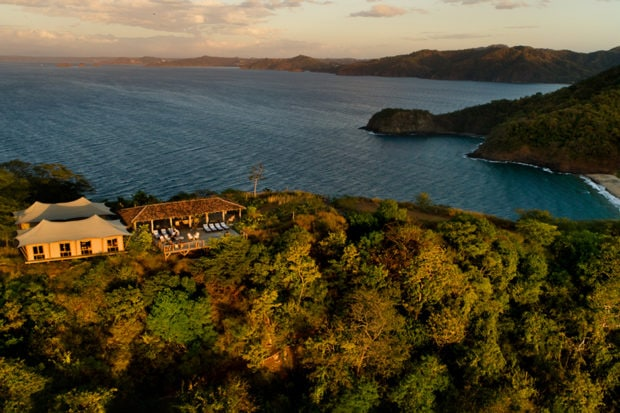 The serene sunset lounge at Kasiiya Papagayo offers unparalleled views. Photo by Brooke Day
