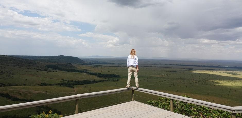 Melissa Biggs Bradley at Angama Mara in Kenya. Courtesy Indagare