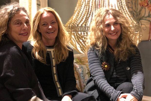 Melissa (center) with Hoda Baroudi and Maria Hibri of Bokja