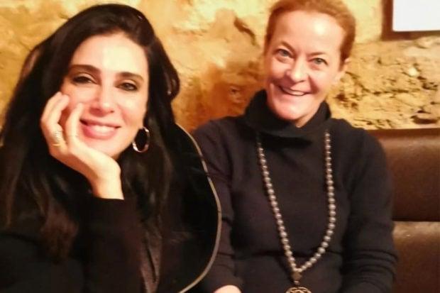 Nadine Labaki (left) and Melissa Biggs Bradley (right) in Beirut.