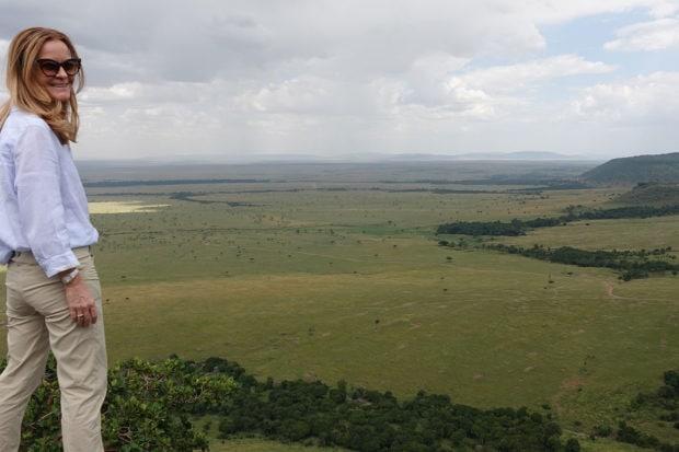 Melissa Biggs Bradley at Kenya's Angama Mara