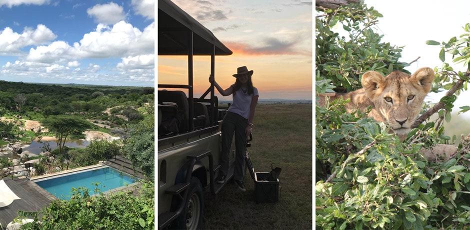 Indagare's Bridget McElroy, center, shares her safari experience.