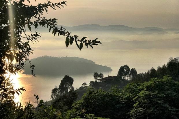 The landscape in Rwanda. Courtesy Marina Purcell.