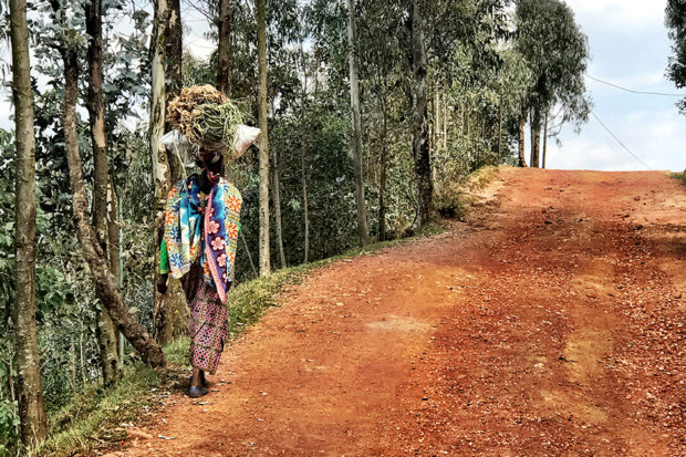 A woman in Rwanda. Courtesy Marina Purcell.