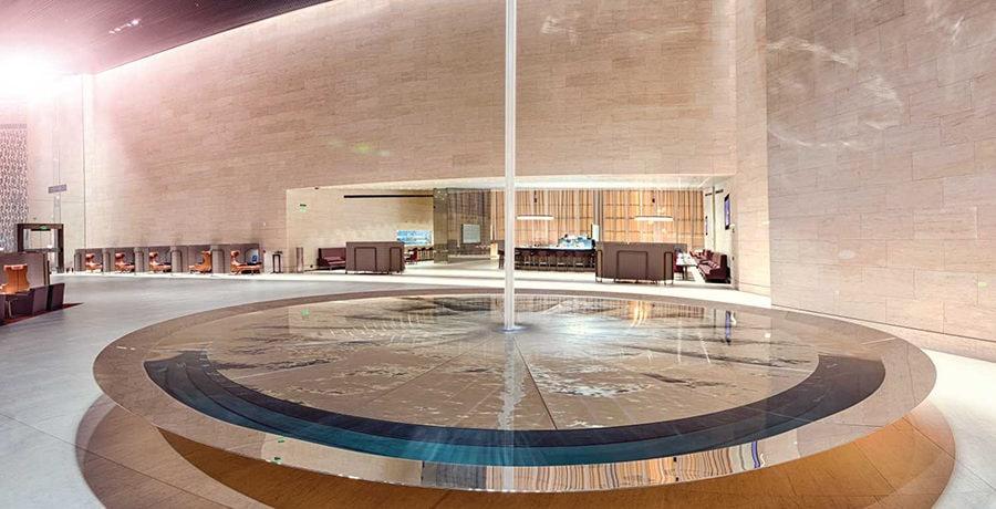 The Al Safwa Lounge from Qatar Airways in Doha. Courtesy Qatar Airways