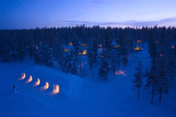 Near the Insta-famous glass igloos, Kakslauttanen's snowy igloos are a lesser-known, more rugged Arctic escape. Courtesy Kakslauttanen Arctic Resort