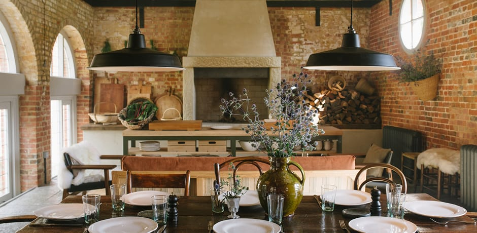 The Hearth restaurant at Heckfield Place in Hampshire, England