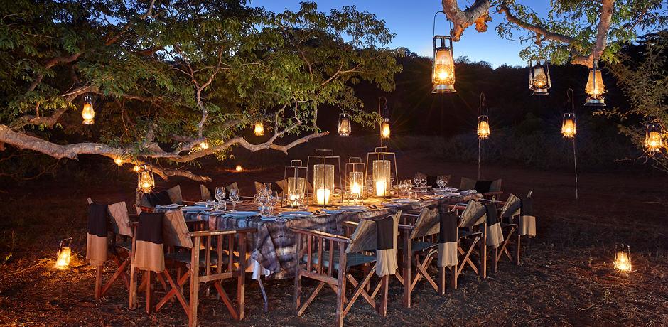 Dinner under the stars at Singita Pamushana in Zimbabwe