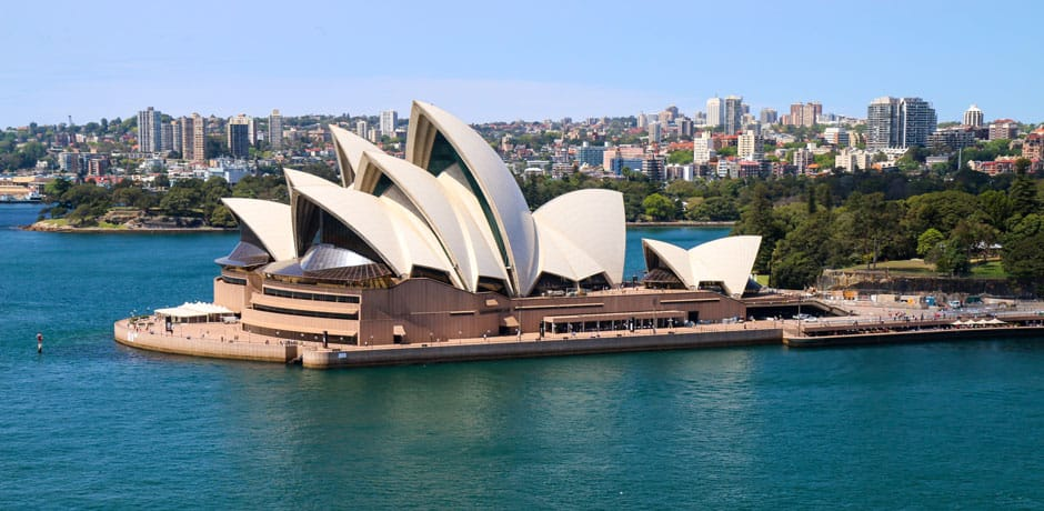 The world-famous Opera House, Sydney, Australia