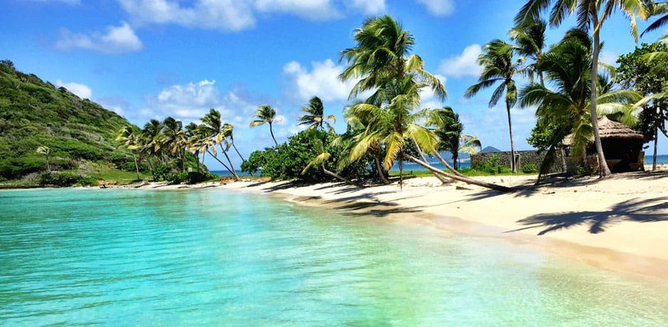 A beach on Canouan Island, Grenadines