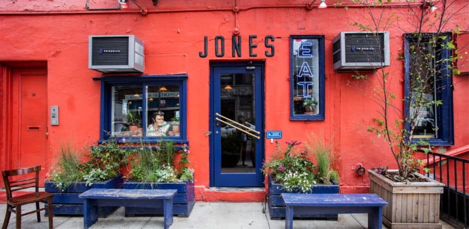 The iconic façade of Great Jones Café will remain the same for the new restaurant. Photo by Eric Medsker.