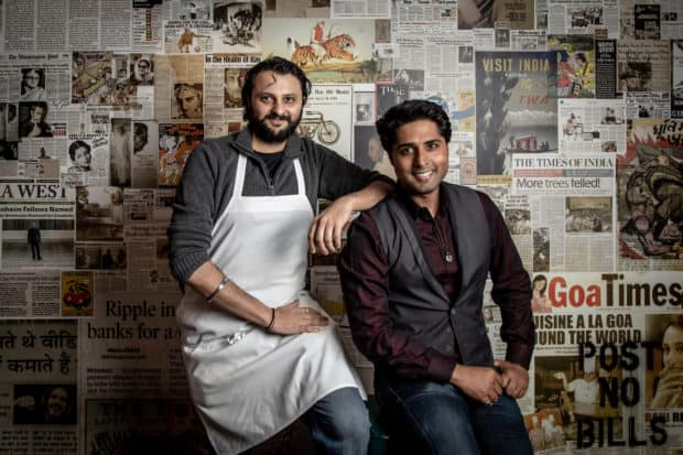 Chef Chintan Pandya and owner Roni Mazumdar of popular Indian restaurant Adda are working on a new concept for the lower east side called Dhamaka, coming this year. Photo by Gary He.
