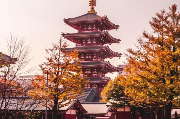 Sensoji Temple in Tokyo, Courtesy Charles Postiaux
