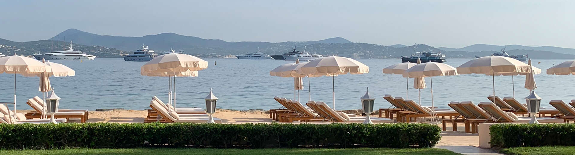 The beach at Cheval Blanc in St. Tropez.