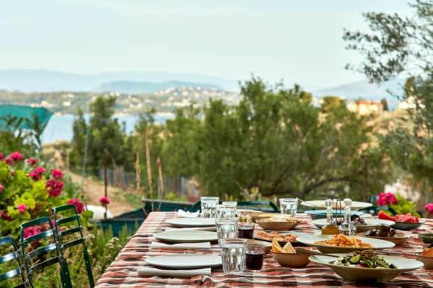 Bostani Farm-to-Table Restaurant, Courtesy Poseidon Grand Hotel, Spetses, Greece