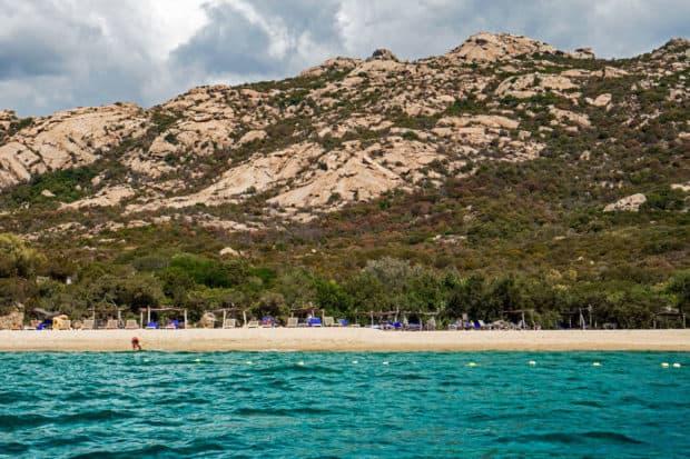 The beach at Domaine de Murtoli, Corsica