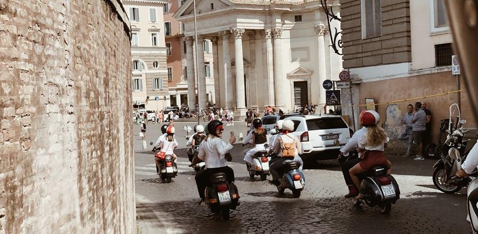 Touring Rome à la Audrey Hepburn on a Roman Holiday—by Vespa!