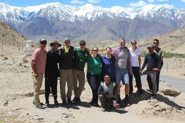 A group hike in Ladakh