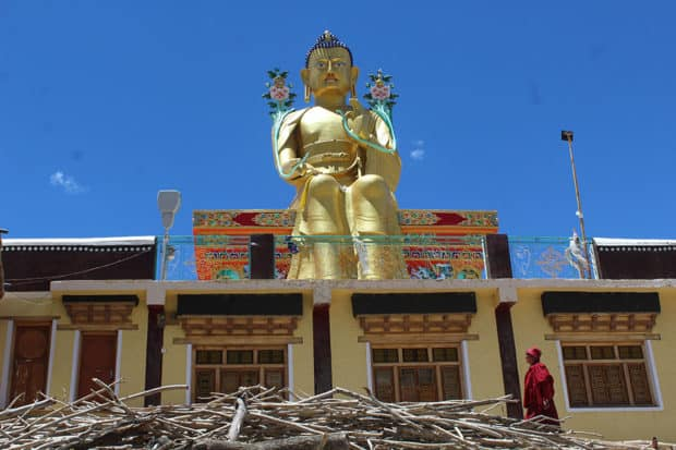 Likir, a 10th-century Buddhist monastery and marveled at a 75-foot gold statue of Maitrea, the future Buddha.
