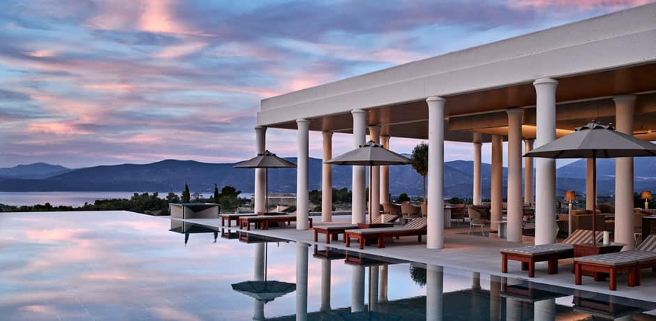 A nine-bedroom villa at Amanzoe, Greece, Courtesy Amanzoe