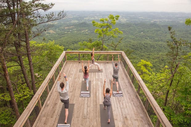 Yoga at Blackberry Mountain, Tennessee, Courtesy Ingalls Photography