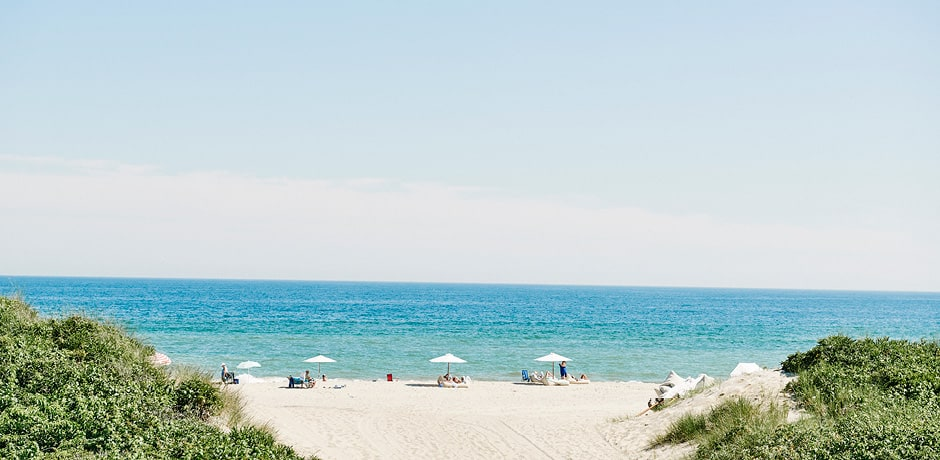The beach at Hero Beach Club, Montauk, New York. Photo courtesy Hero Beach Club.