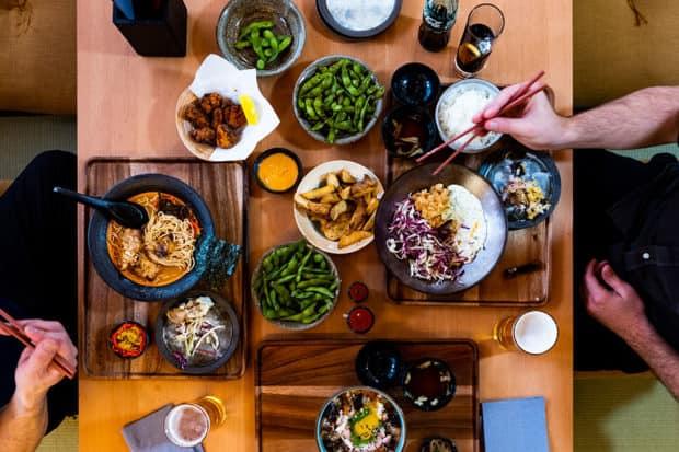 Lunch at Kumo restaurant at the Skye Niseko hotel