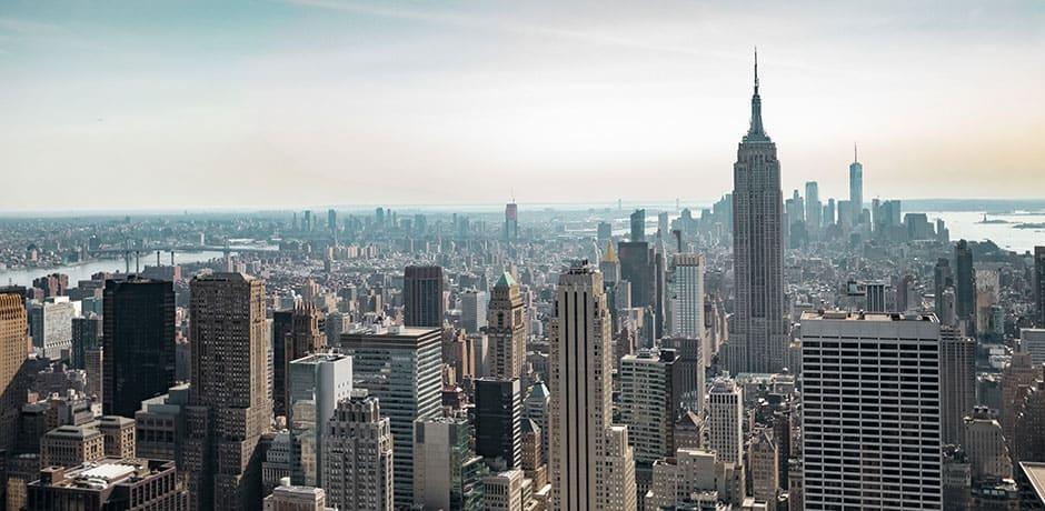The NYC skyline, photo by Dorian Mongel