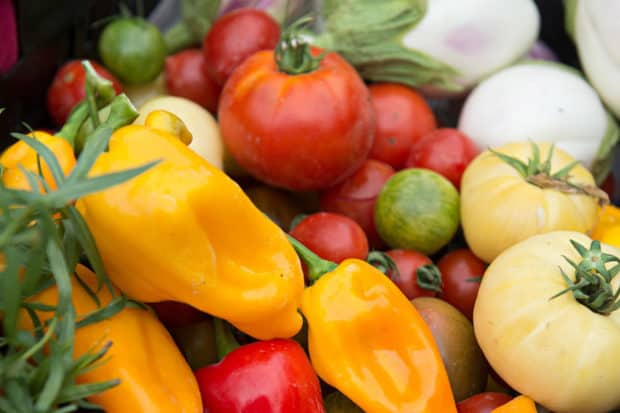 Vegetables at Ballymaloe
