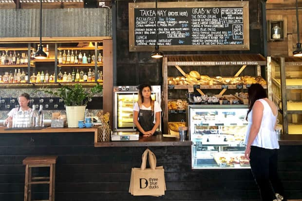 The café at The Farm in Byron Bay, Australia