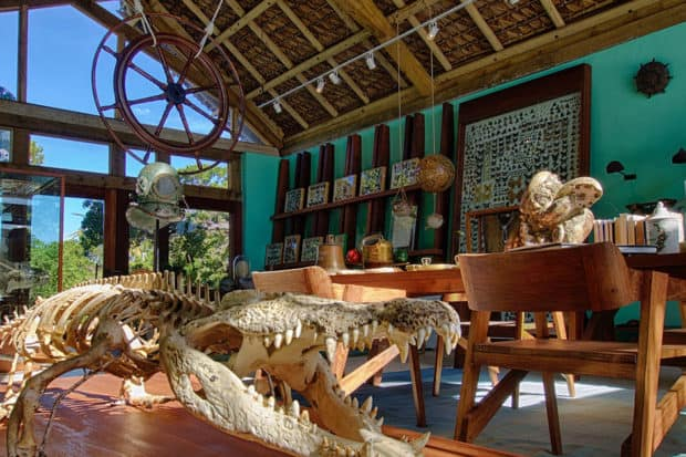 The Cabinet of Curiosities at Miavana. Courtesy Time + Tide.