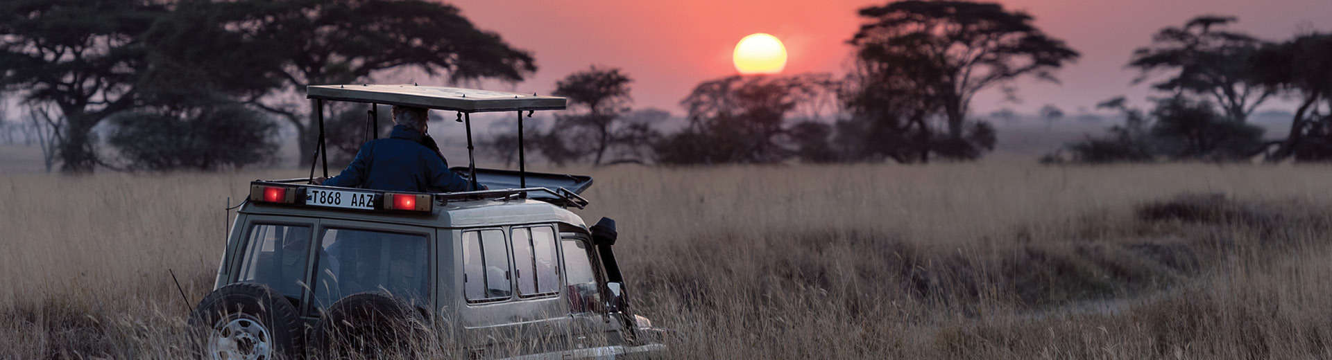 classic tanzania safari sunset