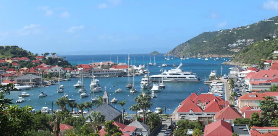 A view of Gustavia from Bonito
