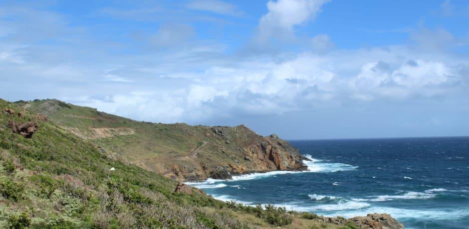 A view near Le Toiny Beach Club of Anse de Toiny