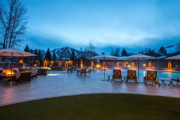 The pool at the Sun Valley Lodge. Courtesy Sun Valley Lodge, Idaho