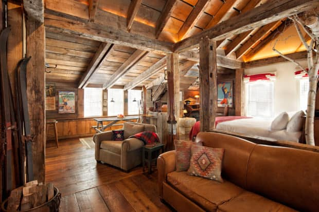 A bedroom at the Pitcher Inn, Vermont. Courtesy the Pitcher Inn