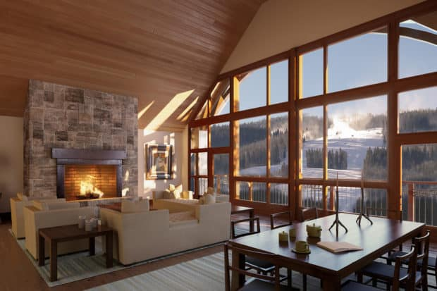 A private chalet or lodge offers a home-away-from-home experience. Courtesy the Solaris Residences, Vail