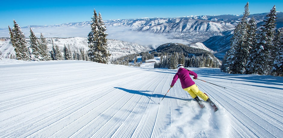Skiing at The Little Nell, Aspen. Courtesy The Little Nell