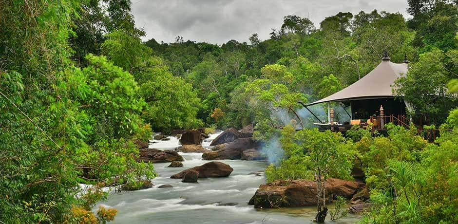 A tent along the river at Shinta Mani Wild in Cambodia