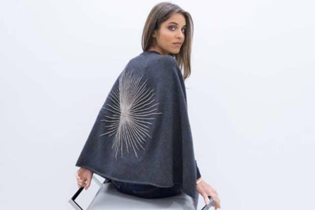 A cashmere shawl by Carolyn Rowan Accessories