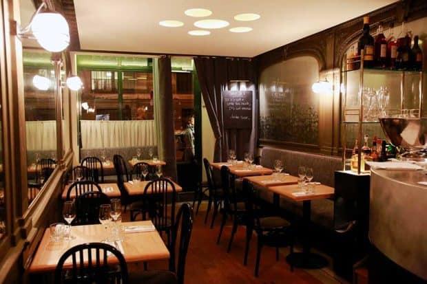 The dining room at La Bourse et La Vie