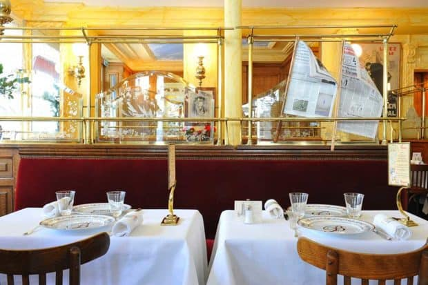 The dining room at Benoit, courtesy of C. Sarramon