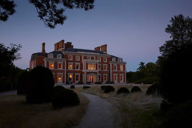 Evening at Heckfield Place.Courtesy Heckfield Place