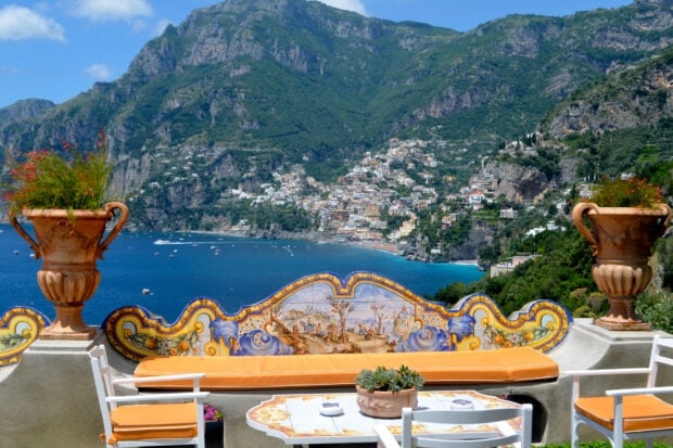 A breakfast view from Hotel Il San Pietro in Positano, photo by Emma Pierce