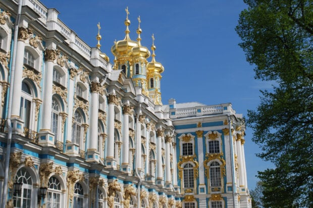 The gilded Catherine Palace in St. Petersburg, photo by Melissa Biggs Bradley