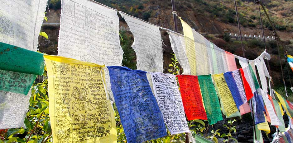 Prayer flags in Bhutan, Courtesy  Gina Paoloni
